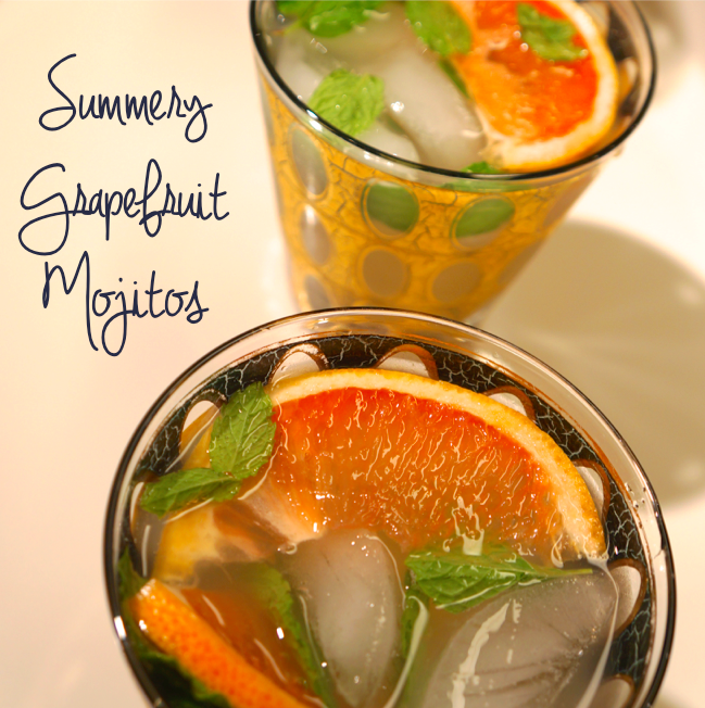 Summery Grapefruit Mojitos