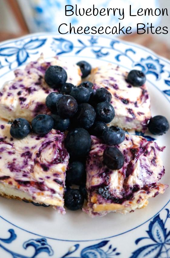 Blueberry Lemon Cheesecake Bites
