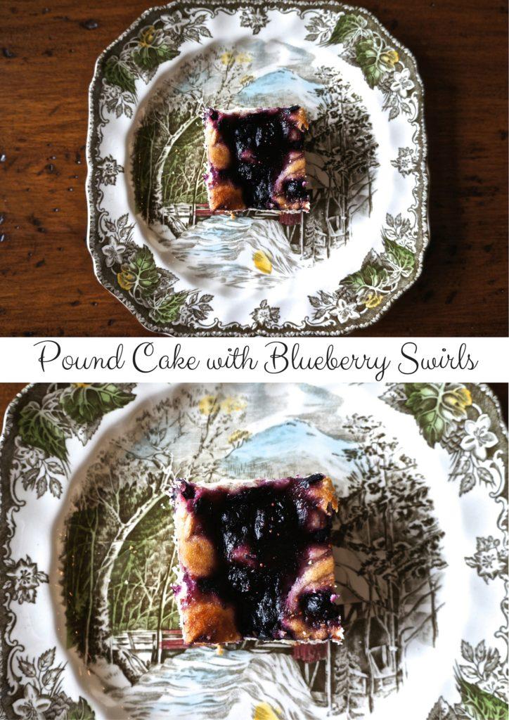 Pound Cake with Blueberry Swirls