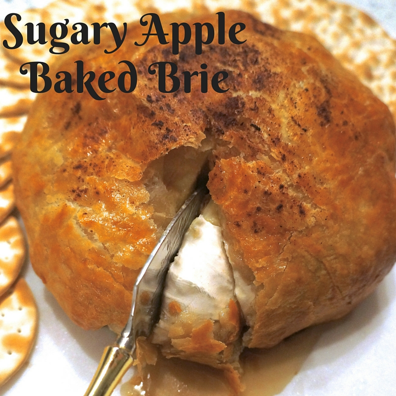Sugary Apple Baked Brie