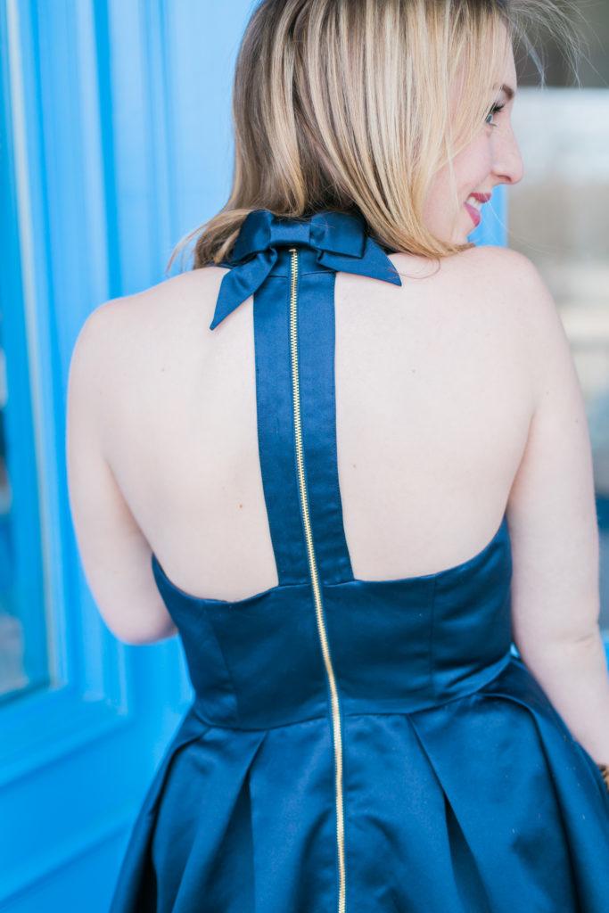 Navy Bow Dress 6