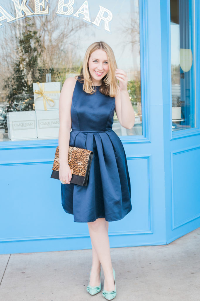 Navy Bow Dress Kate Spade Cocktail Attire