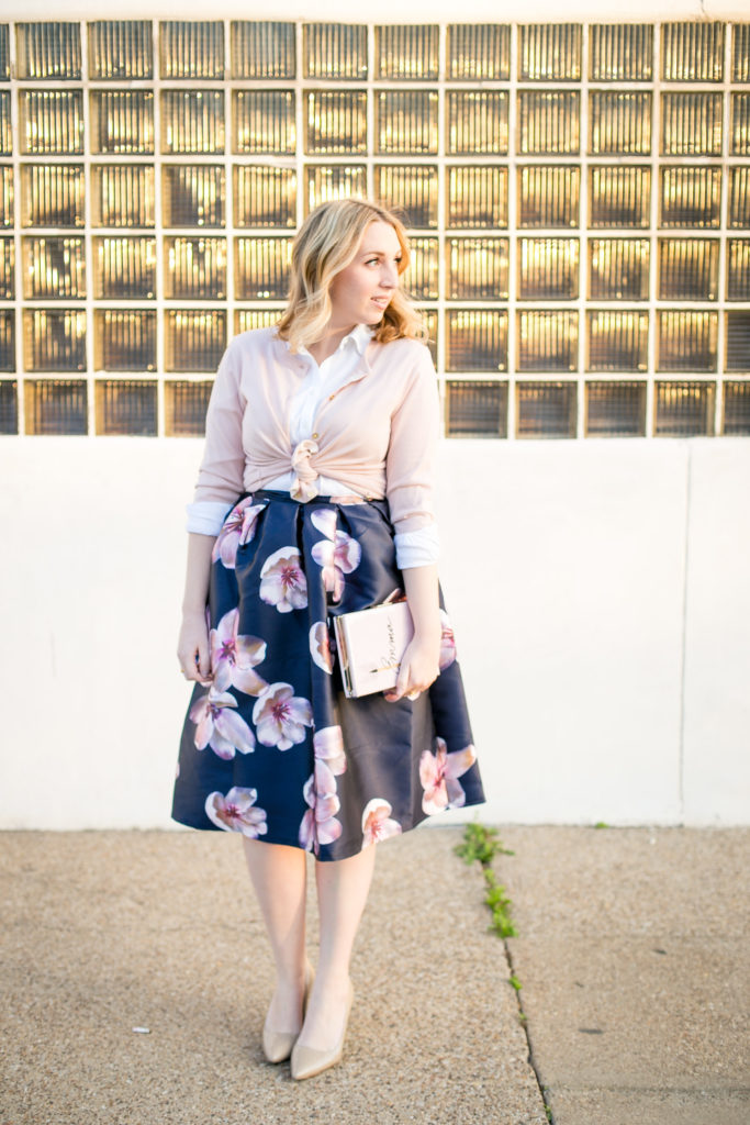 Floral Midi Skirt 1