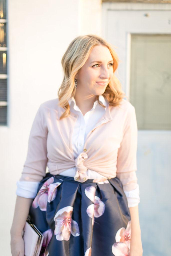 Floral Midi Skirt 3