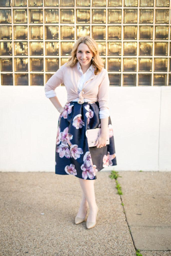 Floral Midi Skirt 8