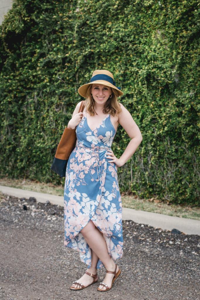 Floral Wrap Dress 1