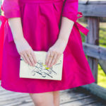 Pink Bow-Sleeve Dress