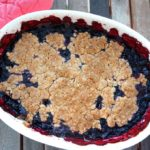 Baked Blueberry Crisp