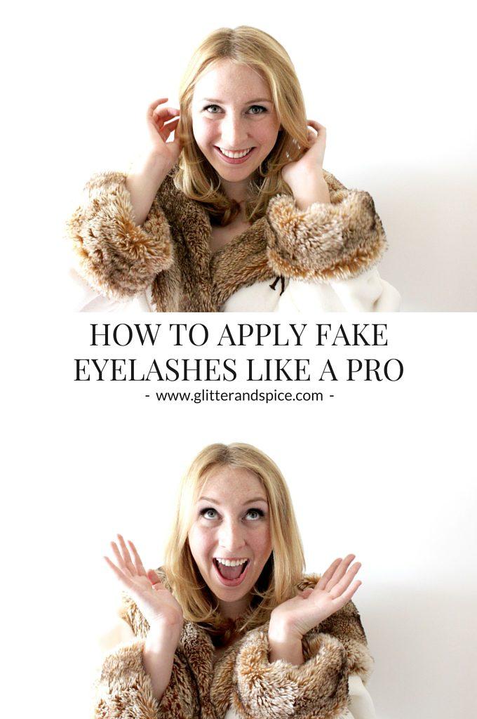 How to Apply Fake Eyelashes Like a Pro pinterest image