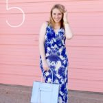 A Blue and White Floral Maxi Dress Perfect for Graduation!