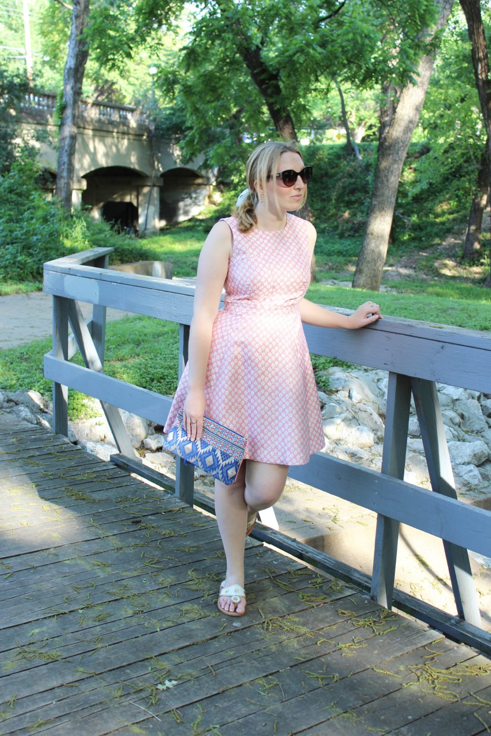 DestinationOasis, Oasis and other brands, Pink Fit and Flare Dress with a Tassel Clutch, Oasis Fashion, Oasisfashion, Destination Oasis