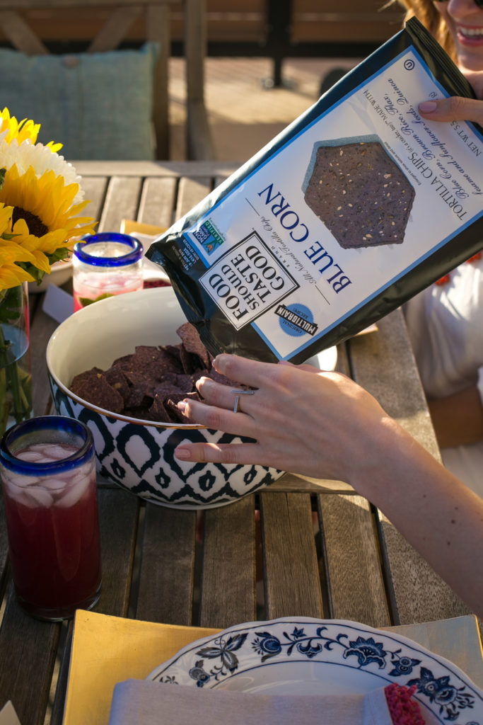 Food Should Taste Good, Cinco de Mayo, Crock Pot Queso, Dallas Food Blogger, blue corn tortilla chips