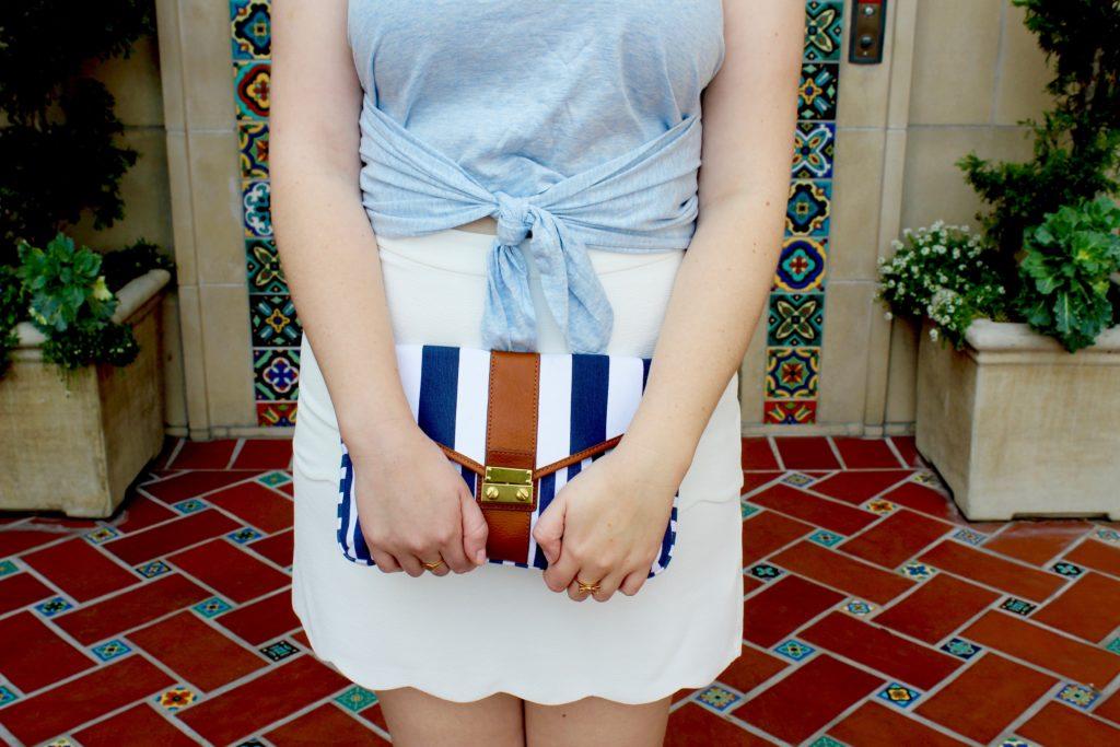 Scalloped White Skirt