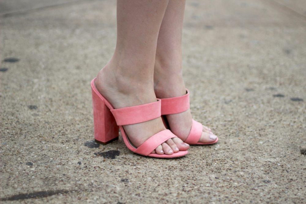 ASOS Hyde Park Mules, Coral Pink Heels