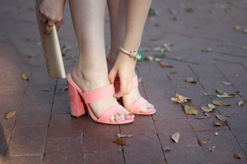 ASOS Hyde Park Mules in Pink