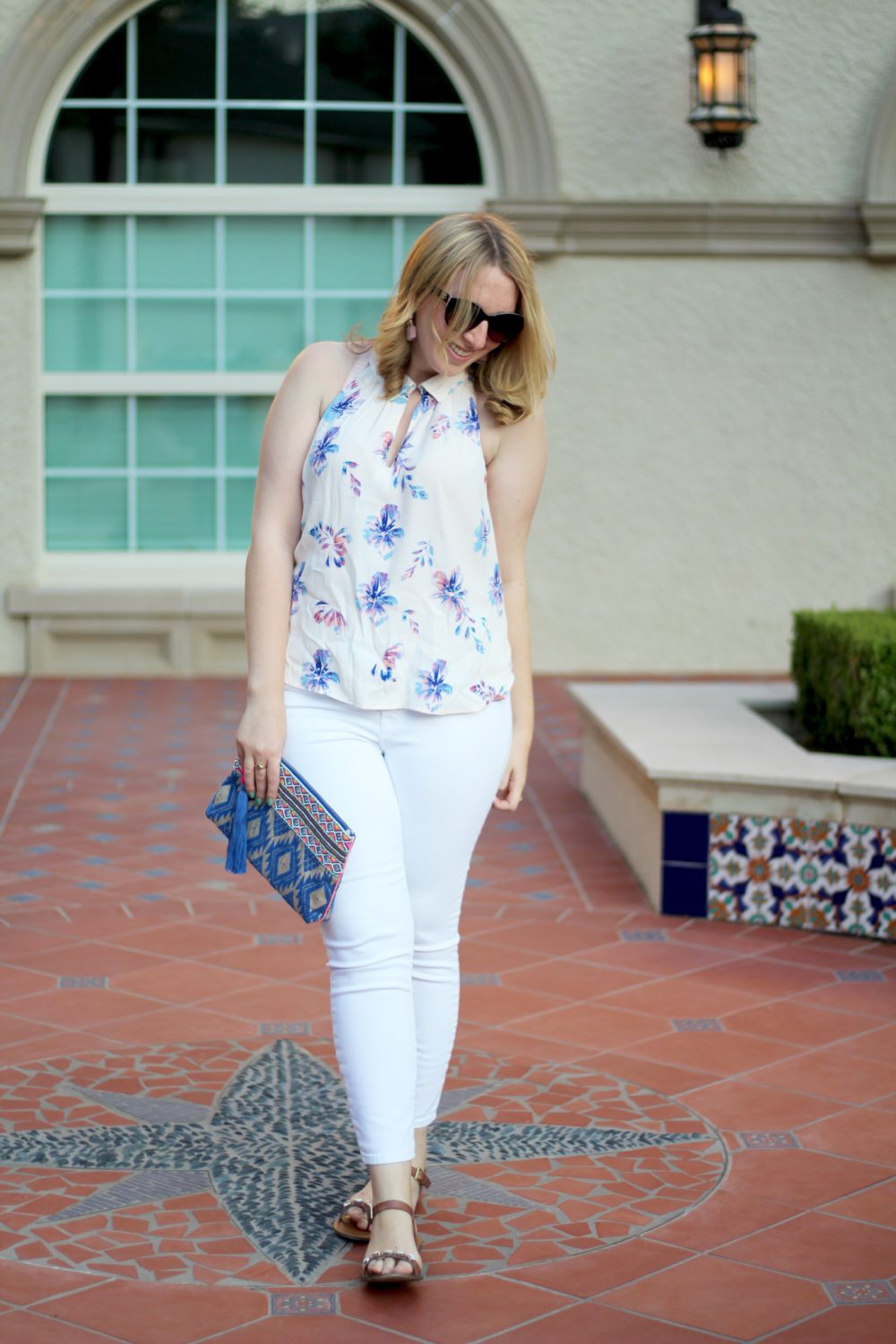 Floral Racerback Blouse, Rent the Runway top, ASTR shirt, sleeveless