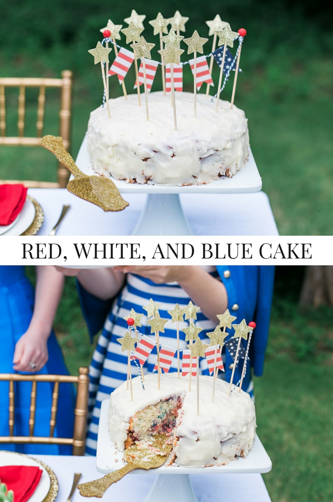 Lemon White Cake Recipe Image Memorial Day Party Cake