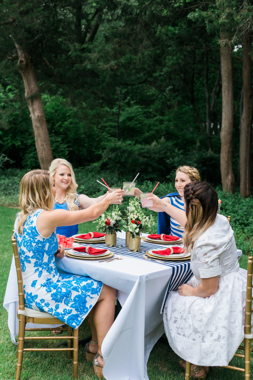 Memorial Day Party Ideas MDW Table, Red White and Blue, Memorial Day Party Theme, Memorial Day outfits