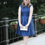 A Navy Dress Perfect to Wear to a Summer Wedding