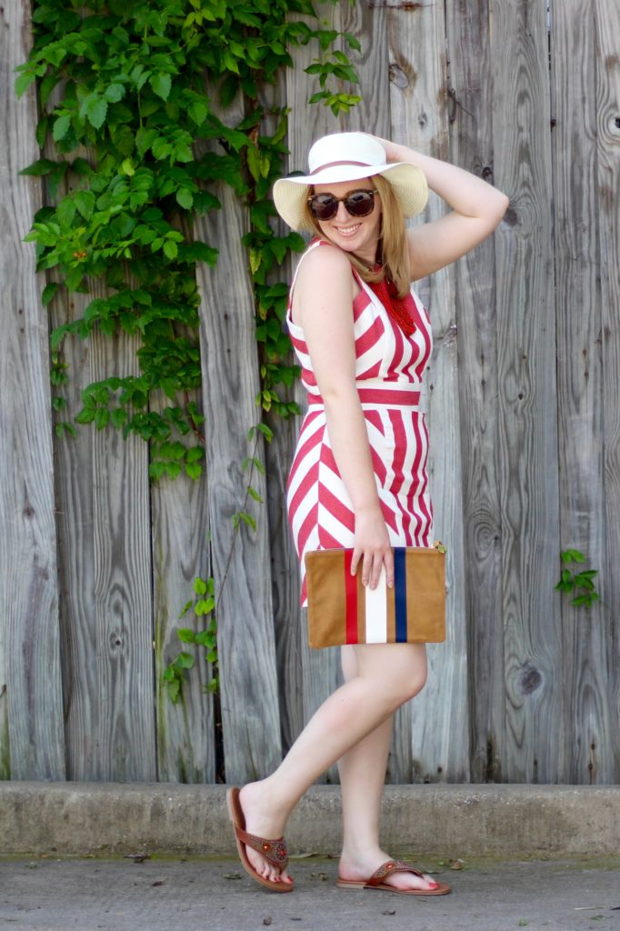 Red and White 4th of July Dress