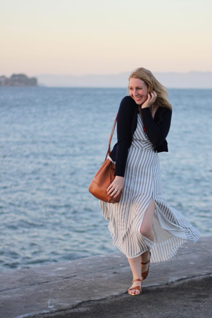 Line & Dot Striped Maxi Dress