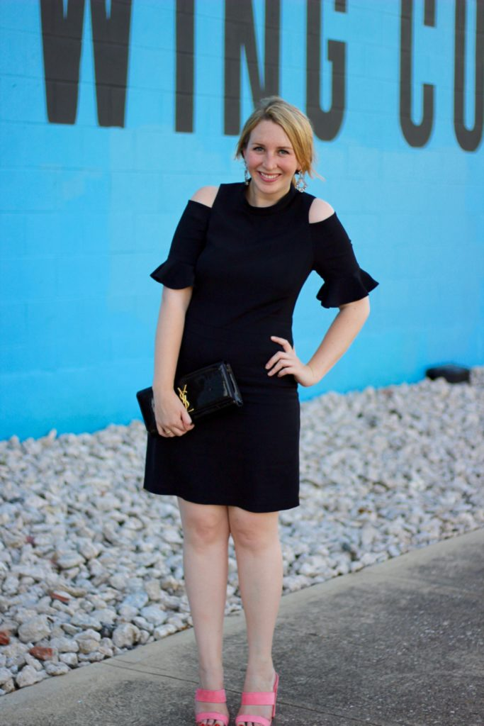 Rebecca Taylor Short Sleeve Cold Shoulder Dress