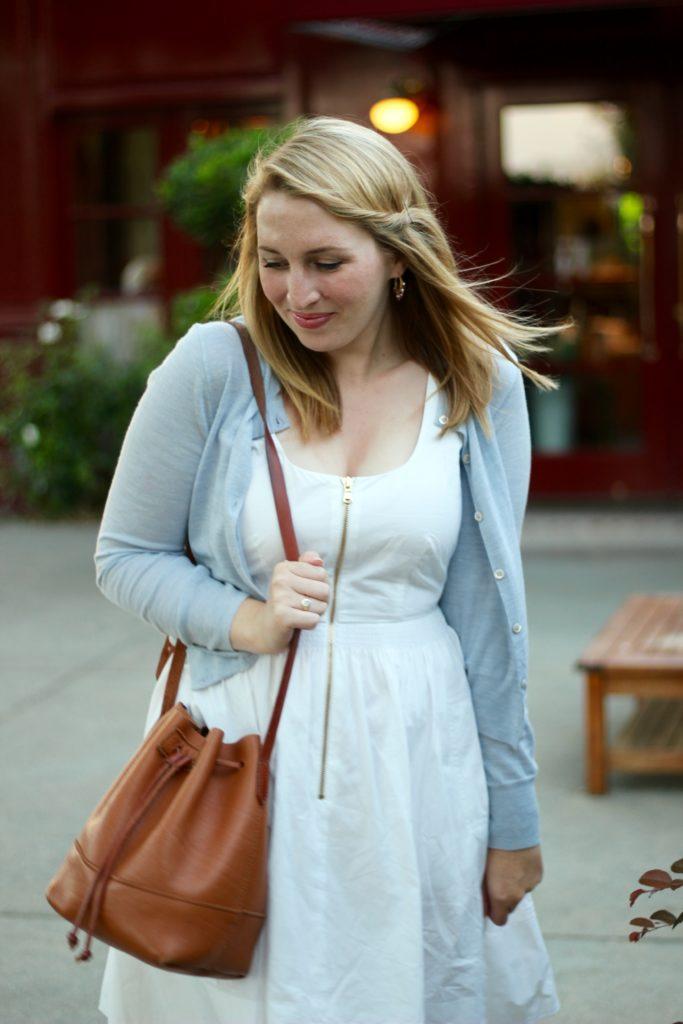 Exposed zipper Zip-Front dress