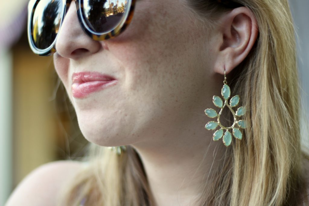 Kendra Scott aqua drop earrings