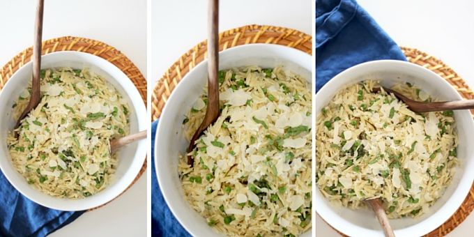 Parmesan Basil Orzo Peas Chicken Broth pasta salad recipe