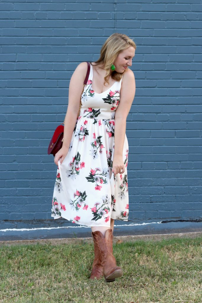 BB Dakota Ivory Petals Dress