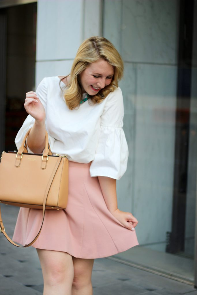 How to style a pink mini skirt