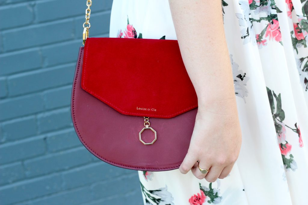 Louise et Cie Jael Suede and Leather Bag