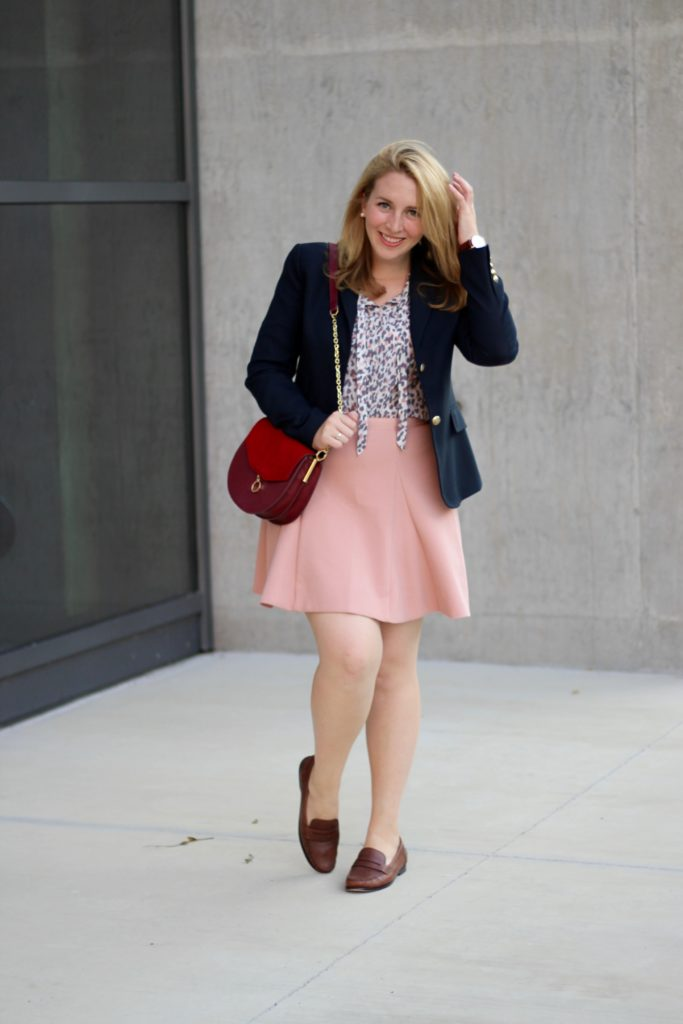 Navy and Pink Outfit