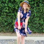 Little Navy Floral Dress from Dezzal