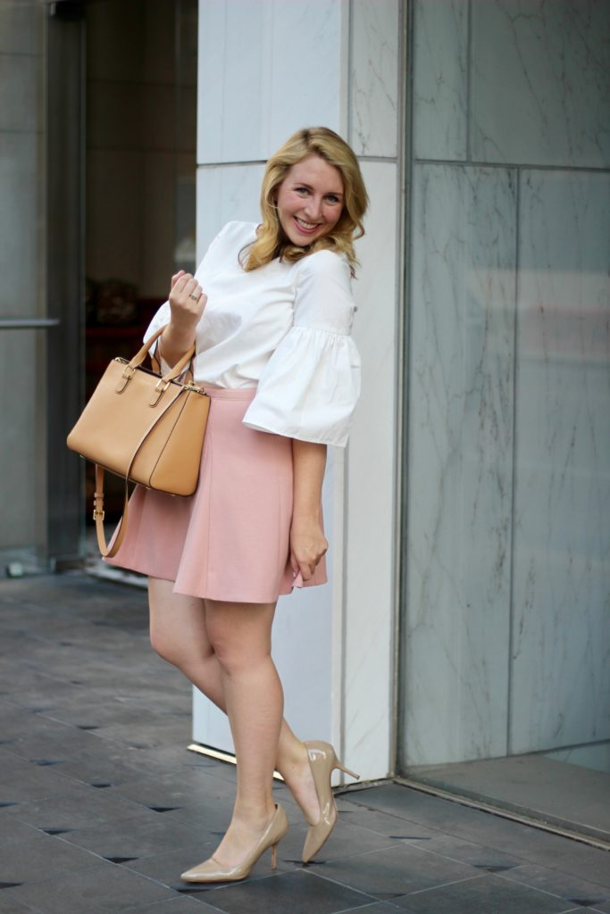 Suno White Cotton Bell Sleeve Tunic