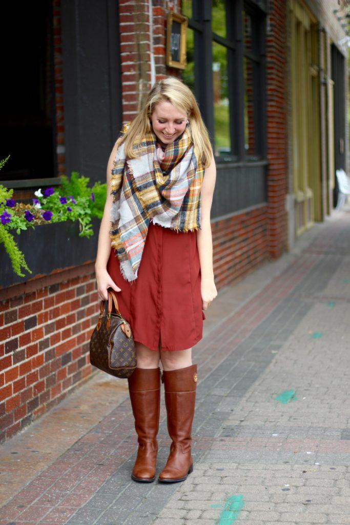 my favorite plaid blanket scarf