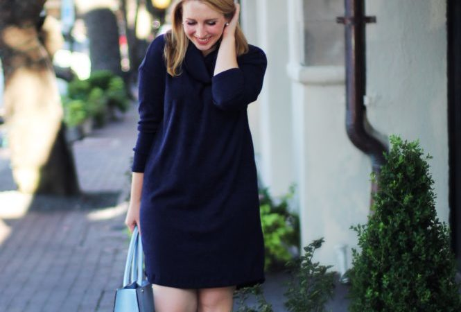Navy Sweater Dress (Under $100!!)