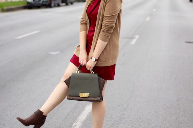 Burgundy Travel-Friendly Dress