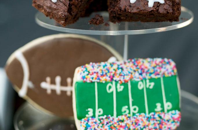 Football Brownies (made using my Nutella Brownies!)