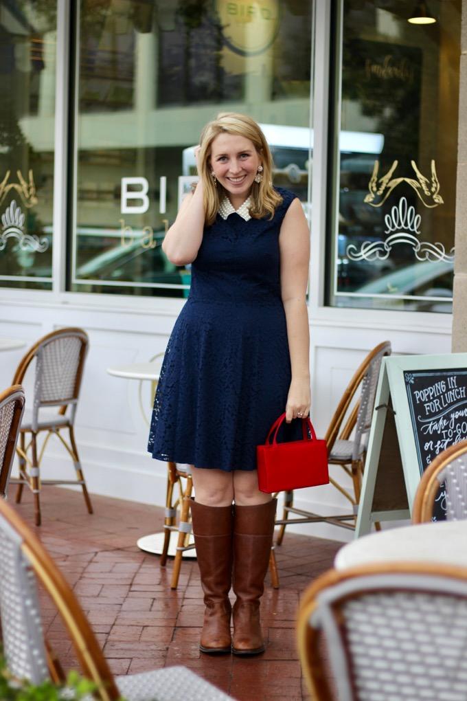 Betsey Johnson Imitation Pearl & Lace Dress