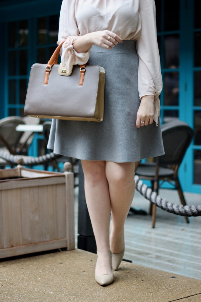 Blush and Gray workwear look