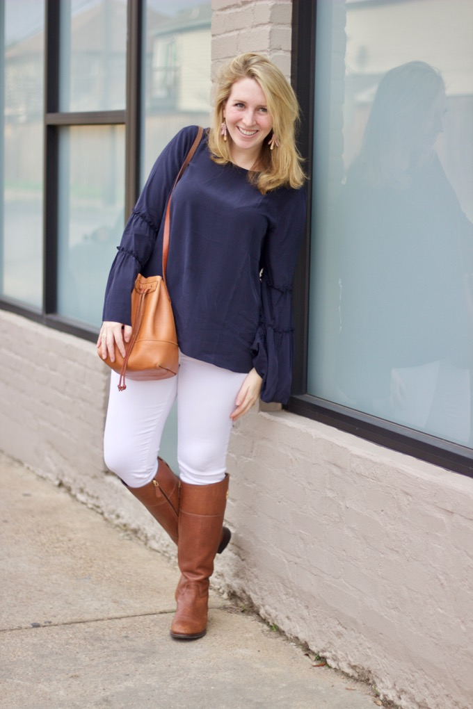 J.Crew White Jeans work in winter