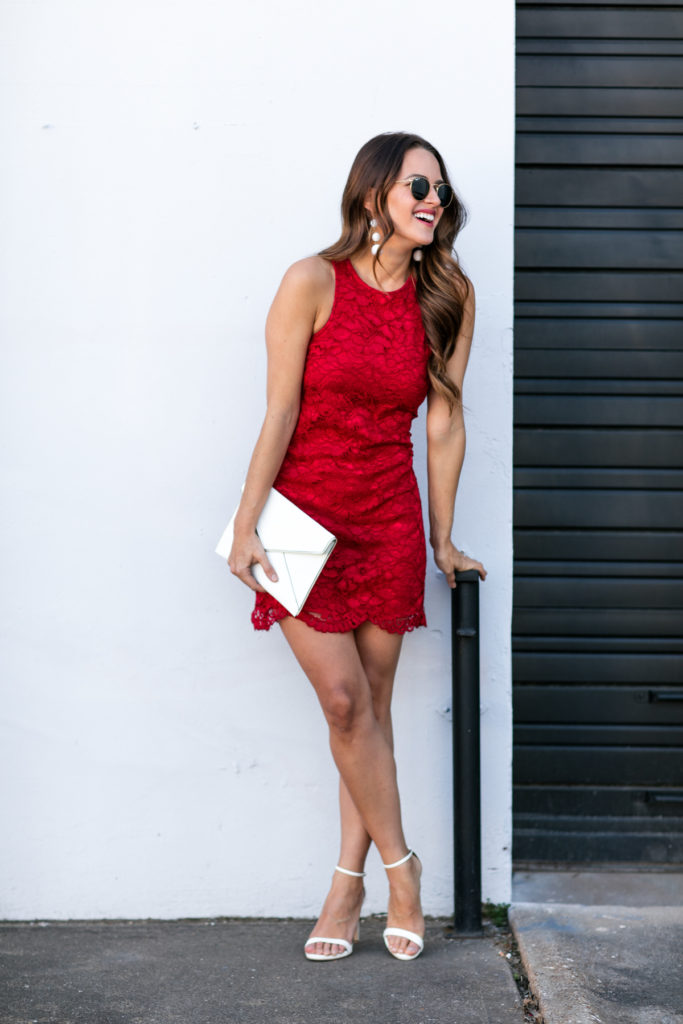Lauren Morgan A Lo Profile Red Dress