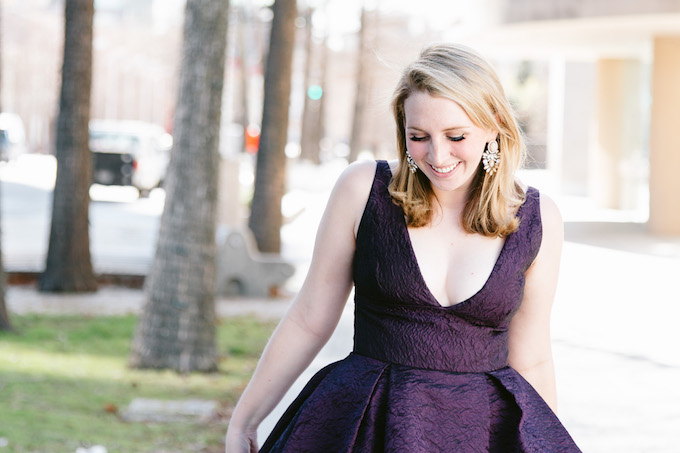 Purple Black Tie Dress