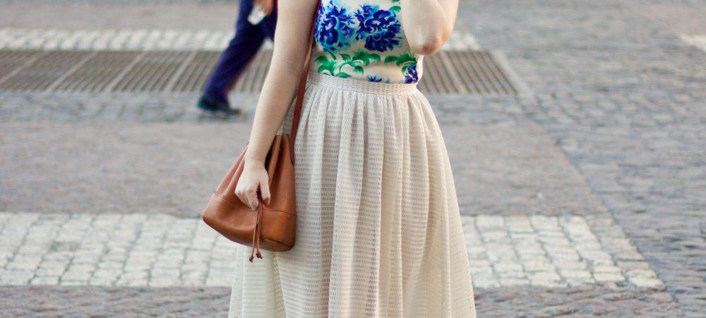 Floral Bodice Midi-Length Sundress