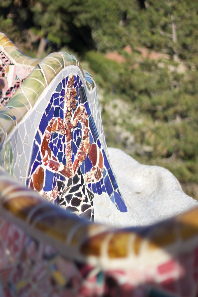 Park Güell colorful benches