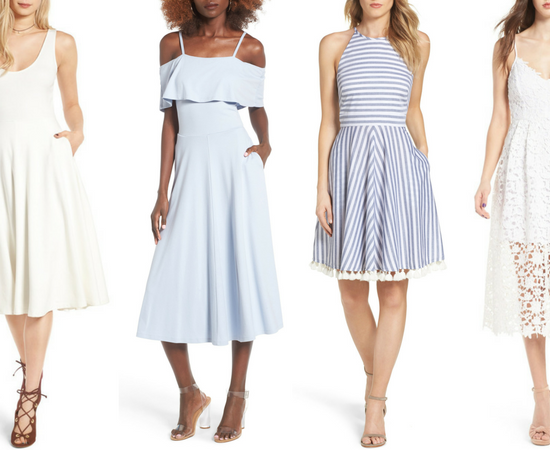 Blue and White Spring Dresses