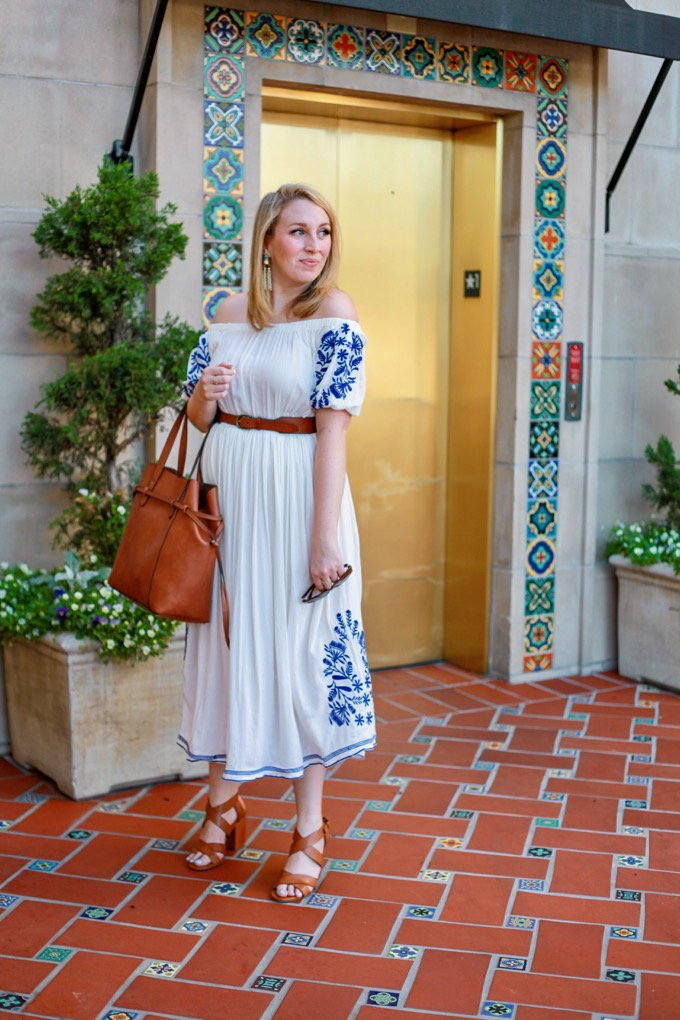 Navy and White Summer Dress Under $100
