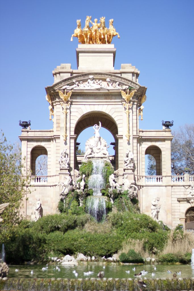 Parc de la Ciutadella Barcelona fountain