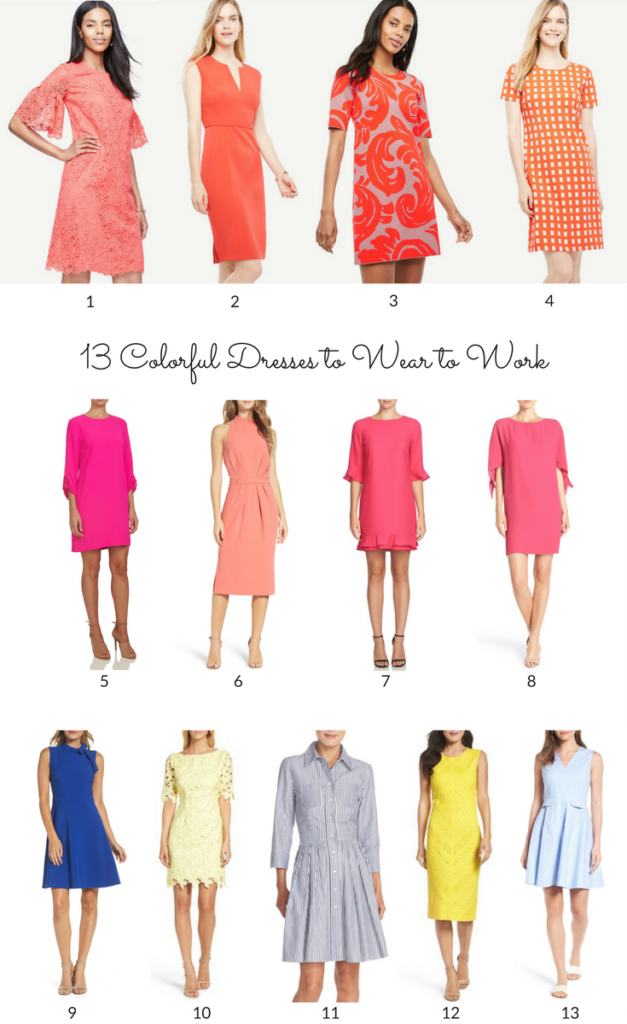 13 Colorful Dresses to Wear to Work